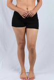 Black Waist Banded Pole Shorts