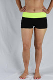 Yellow/Black Waist Banded Pole Shorts