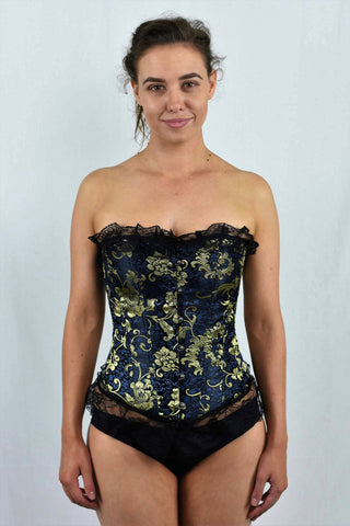 14 Boned Golden Print Corset