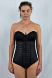 Leather look 4 steel bone corset