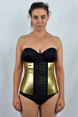 4 Steel Bone Gold Metallic Corset