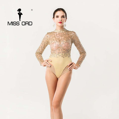 Diamond Cause Bodysuit Gold