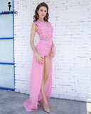 Floral Lace Two Piece Pink