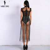 Tassel Play Suit Black