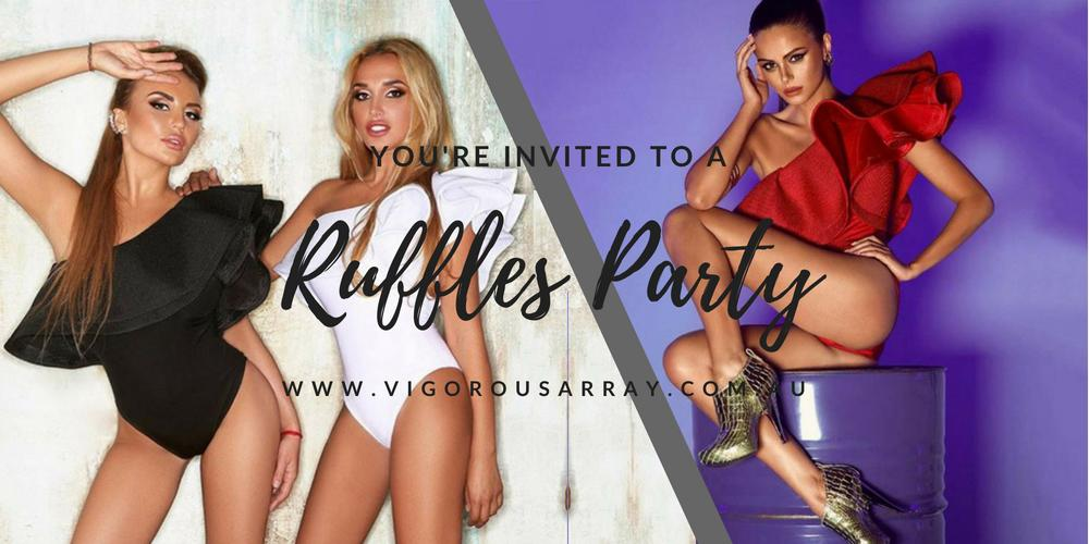 Ruffles Party frills pole dance clothing wear Vigorous Array Pole Dance Clothing