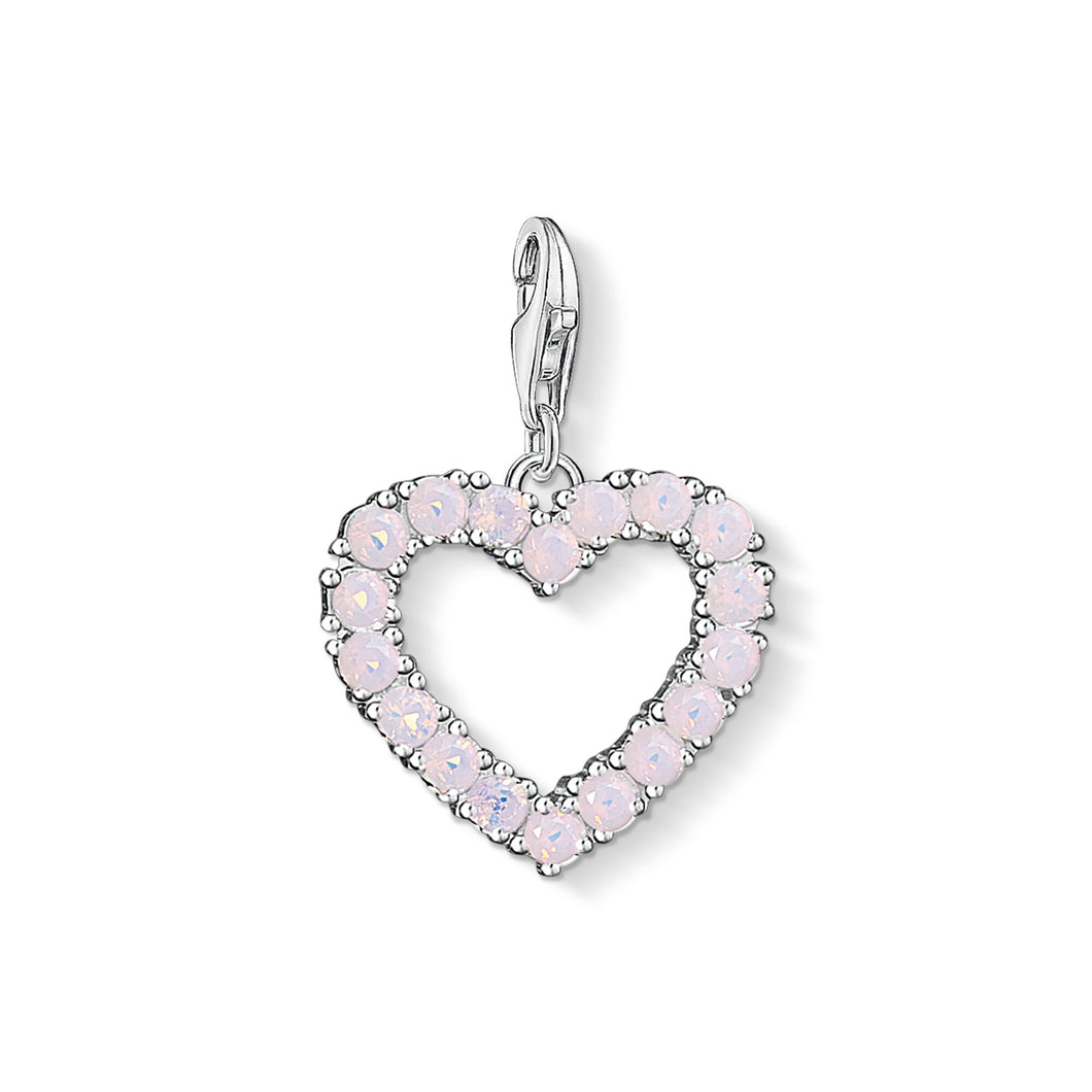 THOMAS SABO Charm Pendant Heart With Hot Pink Stones - Pink