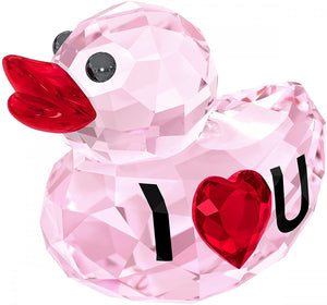 SWAROVSKI I Love You Happy Duck Home Decor - Pink & Red