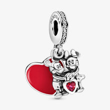 Load image into Gallery viewer, PANDORA Disney Mickey Mouse & Minnie Mouse Love Dangle Charm