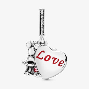 PANDORA Disney Mickey Mouse & Minnie Mouse Love Dangle Charm
