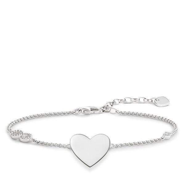 "STERLING SILVER Glam & Soul BRACELET ""HEART WITH INFINITY"""