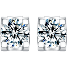 "将图片加载到图库查看器,GEMODA ""Bella"" Moissanite Stud Earrings in 925 Sterling Silver"