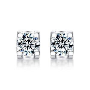 "GEMODA ""Bella"" Moissanite Stud Earrings in 925 Sterling Silver"