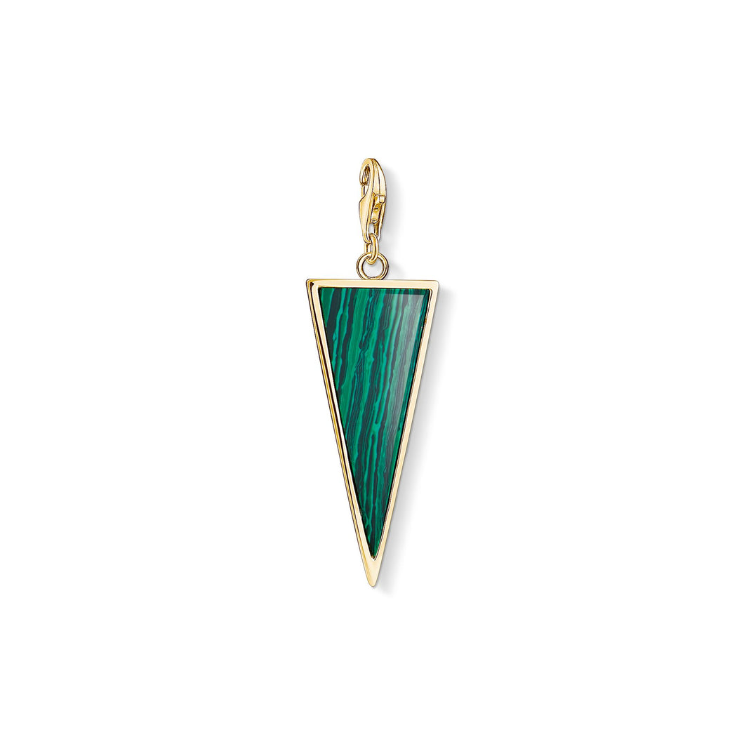 THOMAS SABO Charm Pendant Green Triangle