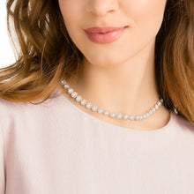 Load image into Gallery viewer, SWAROVSKI Angelic Necklace - White & Rose Gold Tone Plated
