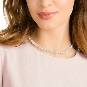 SWAROVSKI Angelic Necklace - White & Rose Gold Tone Plated