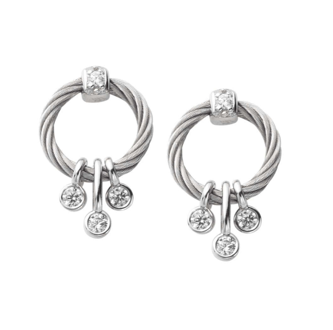 Charriol Charriol Earring Sugar with White Topaz Rose Gold - Gemorie