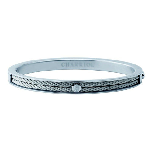 Charriol Charriol- Forever Stainless steel bangle, Stainless steel cable - Gemorie