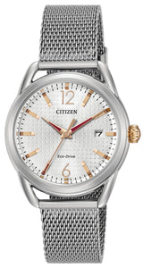CITIZEN CITIZEN Drive Milanese Mesh Bracelet Women's Watch - Stainless Steel - Gemorie