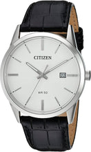 Load image into Gallery viewer, CITIZEN Quartz Black Leather Strap Watch - Gemorie