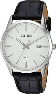 CITIZEN Quartz Black Leather Strap Watch - Gemorie