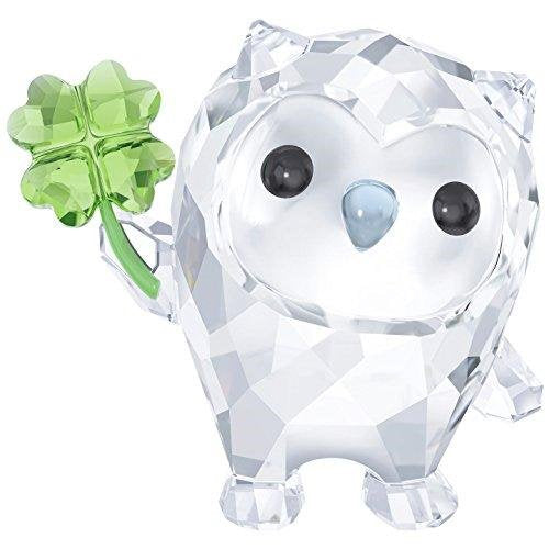 SWAROVSKI I'm So Lucky Crystal Hoot Home Decor - Clear & Green