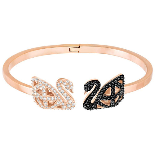 Swarovski FACET SWAN BANGLE, MULTI-COLORED, MIXED PLATING - Gemorie