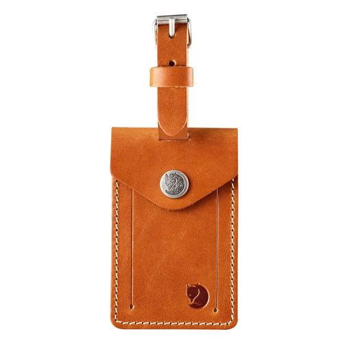 FJALL RAVEN Leather Luggage Tag Leather - Cognac - Gemorie