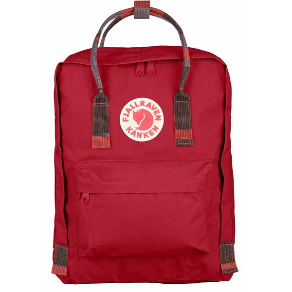 FJALLRAVEN FJALLRAVEN Kanken Backpack - Deep Red-Random Blocked - Gemorie