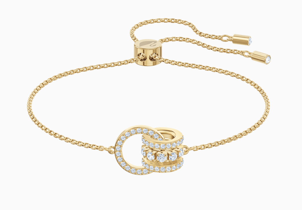 Swarovski FURTHER BRACELET, WHITE, GOLD-TONE PLATED - Gemorie