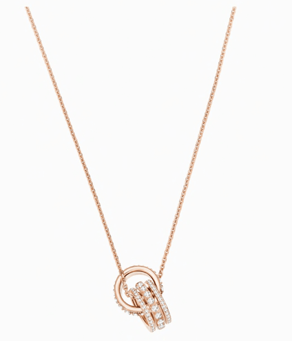 Swarovski FURTHER PENDANT, WHITE, ROSE-GOLD TONE PLATED - Gemorie