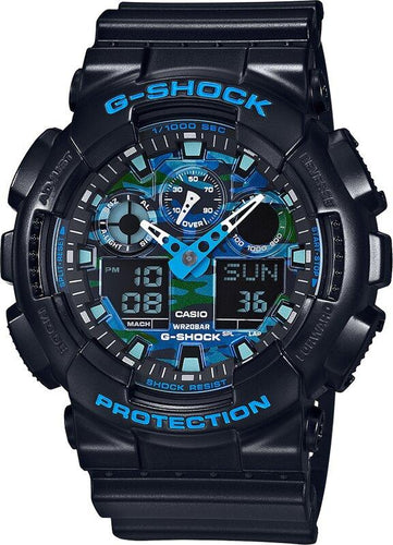 G-SHOCK G-SHOCK Auto LED Light Blue Color Series Men's Watch - Black - Gemorie