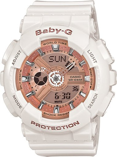 G-SHOCK G-SHOCK BA110-7A1 WOMEN Casio Baby-G Gold and Rose Gold Metallic - Gemorie