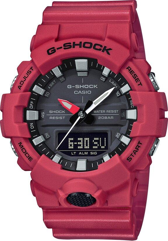 G-SHOCK G-SHOCK Double LED Light Men's Watch - Red - Gemorie