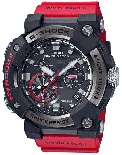 G-SHOCK G-SHOCK FROGMAN Diving Multi-Band 6 Atomic Timekeeping Watch - Red & Black - Gemorie