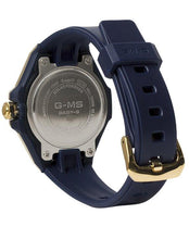 Load image into Gallery viewer, G-SHOCK G-SHOCK G-MS Ion Plated Case 100M Water-Resistant Women's Watch - Navy & Gold - Gemorie