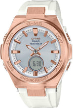 Load image into Gallery viewer, G-SHOCK G-SHOCK G-MS Rechargeable Digital Analog Women's Watch - White & Rose Gold - Gemorie