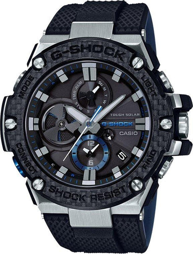 G-SHOCK G-SHOCK G-STEEL Carbon Bezel Bluetooth Solar Powered Men's Watch - Multicolor - Gemorie