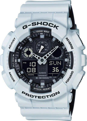 G-SHOCK G-SHOCK GA100L-7A Men's Analog Digital Watch - White - Gemorie