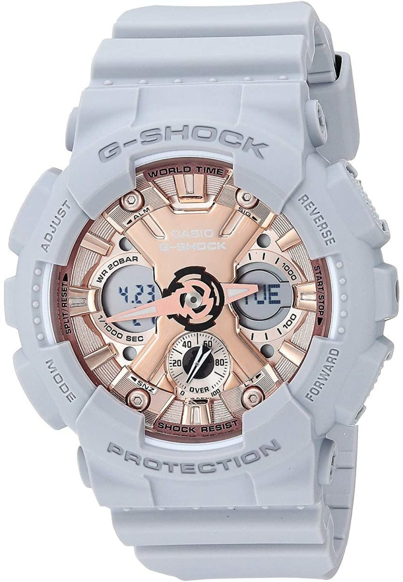 G-SHOCK G-SHOCK GMA-S120MF-8A GRAY AND ROSE GOLD - Gemorie