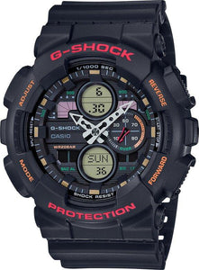 G-SHOCK G-SHOCK LED Mach Indicator Watch - Black & Red - Gemorie