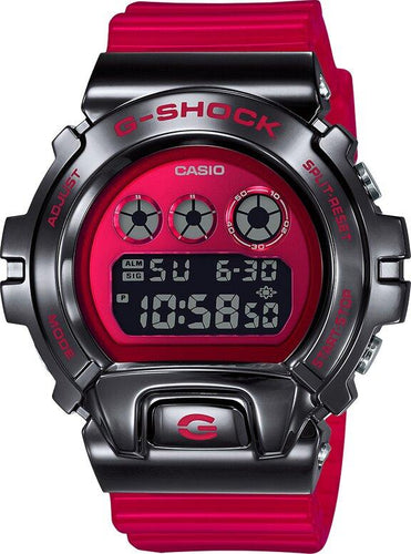 G-SHOCK G-SHOCK Limited Edition DW6900 25th Anniversary Watch - Red & Stainless Steel - Gemorie
