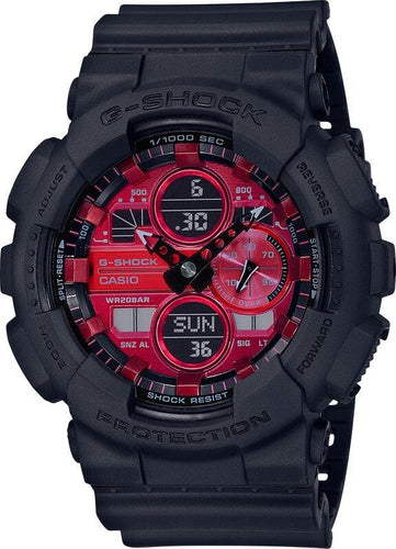 G-SHOCK G-SHOCK Mach Indicator Men's Analog Digital Watch - Black & Red - Gemorie