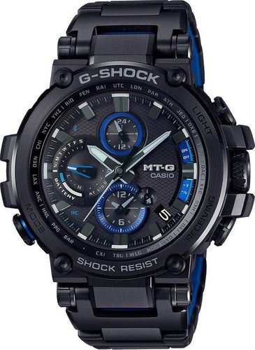 G-SHOCK G-SHOCK Men's MT-G Multiband 6 Solar Power Men's Watch - Black & Blue - Gemorie