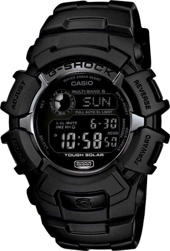 G-SHOCK G-SHOCK Reverse LCD Display Multi-Band 6 Atomic Timekeeping Men's Watch - Black - Gemorie