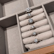 "Load image into Gallery viewer, GEMODA GEMODA ""Classic"" Moissanite 1ctw Solitaire 18k White Gold Engagement Ring - Gemorie"