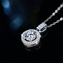 "Load image into Gallery viewer, GEMODA GEMODA ""Francis"" 1 Carat Halo Moissanite Necklace in 925 Sterling Silver - Gemorie"