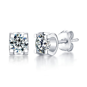 "GEMODA GEMODA ""Palisades"" Moissanite 18k Stud Earrings - Gemorie"