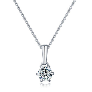 "GEMODA GEMODA ""Rhea"" 1 Carat 6 Prong Moissanite Necklace in 925 Sterling Silver - Gemorie"
