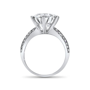 "Gemorie GEMODA ""Enchanted"" Moissanite 5ctw Signature Pave 18k Engagement Ring - Gemorie"