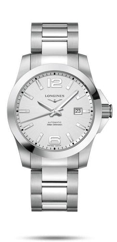 LONGINES LONGINES Conquest Scratch-Resistant Men's Watch - Stainless Steel - Gemorie